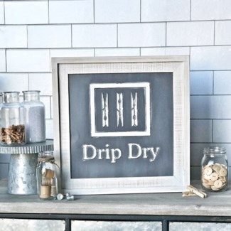 Drip Dry Laundry Sign