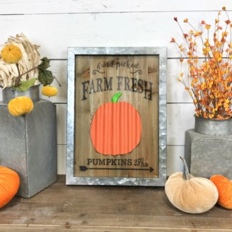 Hand Picked Farm Fresh Pumpkins Sign