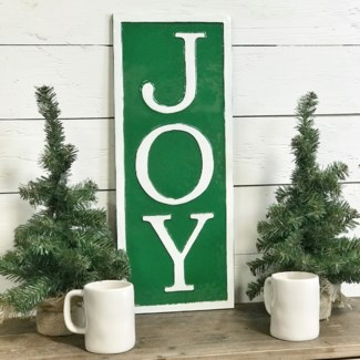 Green Metal Joy Sign