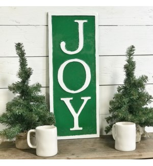 Green Metal Joy Sign