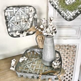 Metal Tobacco Basket Set of 3