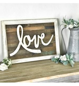 Love Rustic Wood Framed Sign