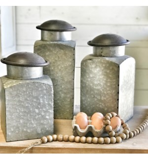 Metal Canister Set of 3