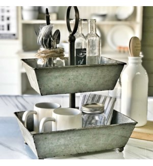 2 Tier tray Stand