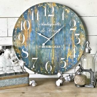 Blue Rusty Clock