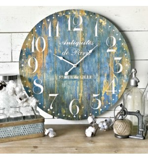 Blue Rusty Clock