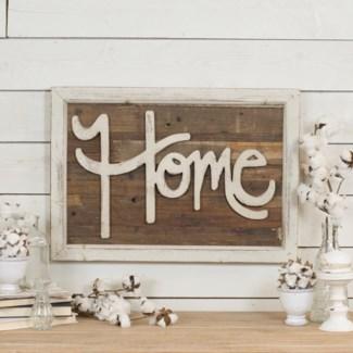 """Wood Word Art """"Home"""""""