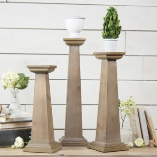 Wood Pedestals Set/3