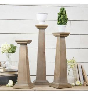 Wood Pedestals Set/3