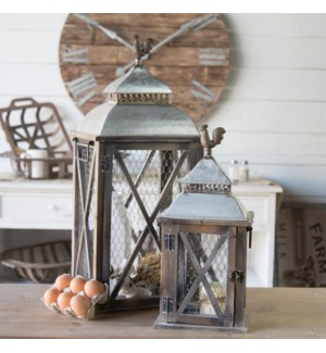Lanterns W/Rooster