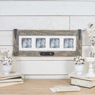Wood Quad Picture Frame