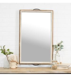 "Wood Mirror 33"""