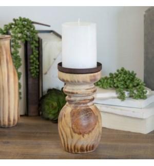Wood Candle Holders Set/3