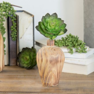 Wood Vase Decor