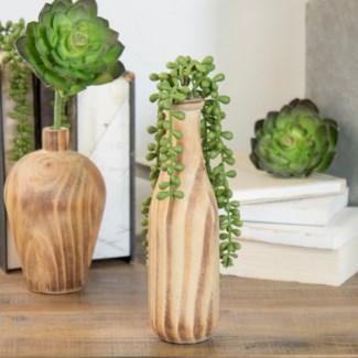 Wood Vase Decor Tall