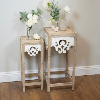 Wood Tables Set/2