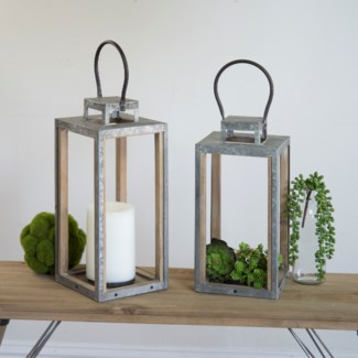 Wood And Metal Lanterns Set/2