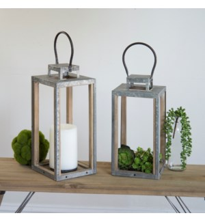 Wood And Metal Lanterns Set/2