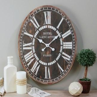 "Wood Oval Clock 23"""