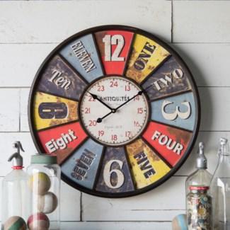 """23"""" Framed Wall Clock"""