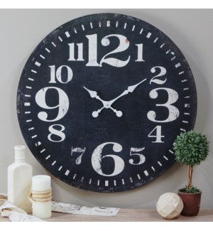 "Wood 28"" Wall Clock Black"