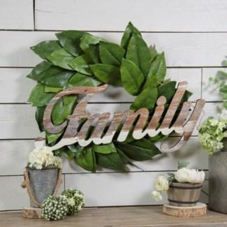 Wood Family Word Art