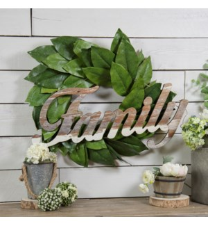 Wood Family Word Art
