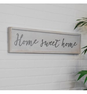 "Wood Sign ""Home Sweet Home"""