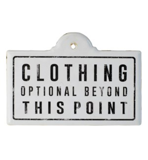 """Sign """"Clothing"""""""