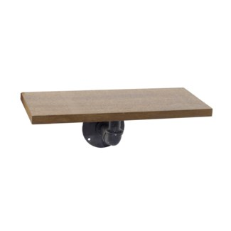 Wood Pipe Shelf 15""