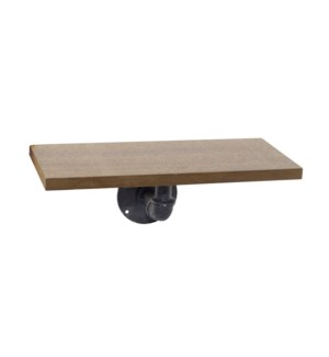 """Wood Pipe Shelf 15"""""""