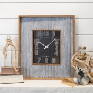 Clock W/ Wood Frame