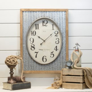 Clock W/ Wood Frame