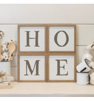 "Wood ""Home"" Word Art"