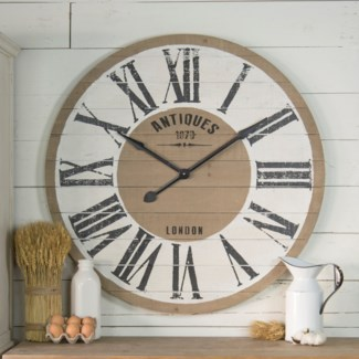 "Wood Wall Clock 36"""