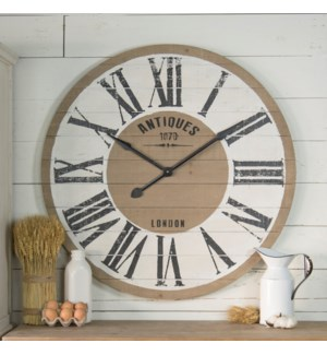 Wood Wall Clock 36""