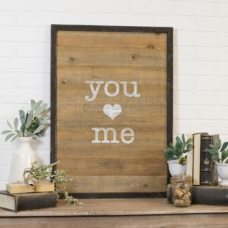 "Wood Sign ""You/Me"""
