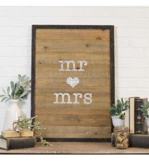 "Wood Sign ""Mr&Mrs"""