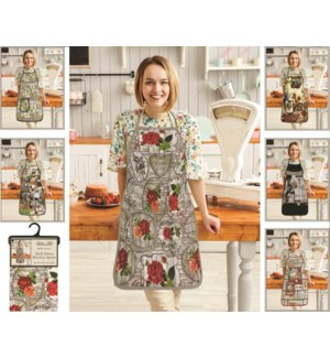 Printed Bib Apron With Pocket