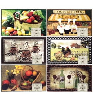 """18"""" x 30"""" Kitchen Mat with TPR/Latex Backing"""