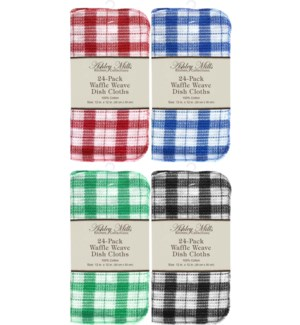 24 Pack Waffle Weave Dish Cloth 12x12