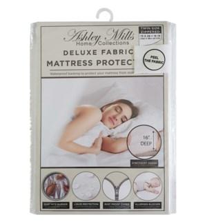 "Deluxe 16"" Deep Fabric Zipper Mattress Protector (Twin)"