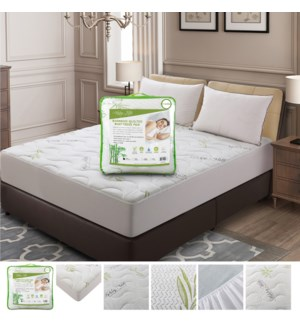 Bamboo Quilted Mattress Pad (Twin)