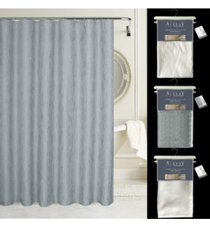 """Albany Luxury Heavy Weight 72"""" x 72"""" Shower Curtain with Free Hooks"""