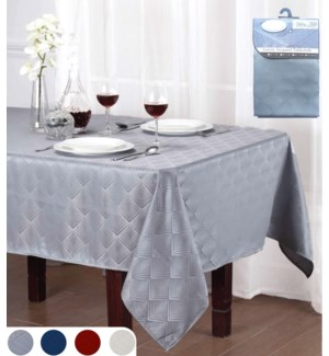 Table Cloth Deluxe Geometrics Jacquard 4 Sizes & 4 Colors