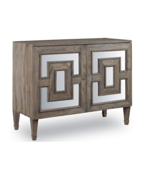 Palmer Mirrored Teak Accent Chest