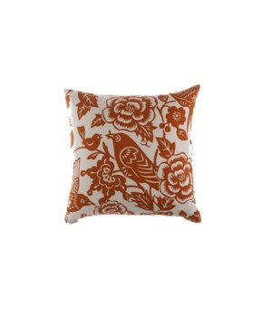 Billybird Square Tangerine Pillow