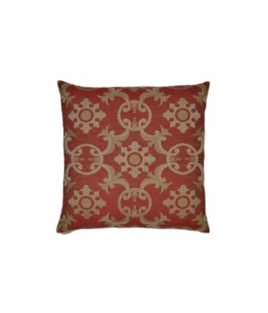 Biblos Square Red Pillow