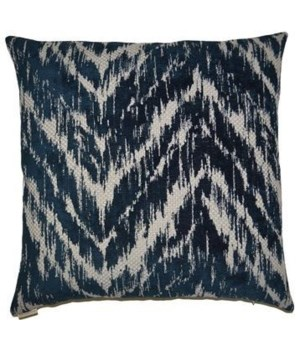Cayewah Square Navy Pillow