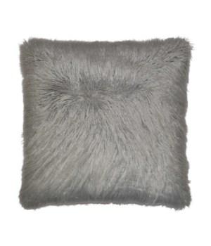 Llama Fur Square Silver Pillow